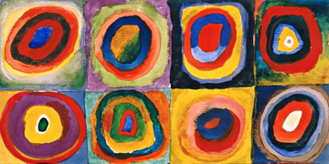 Concentric Circles by Wassily Kandinsky: Fine art prints in custom sizes on professional paper.
