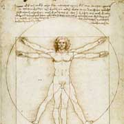 The most famous artwork of the world, Vitruvmann of Da Vinci.