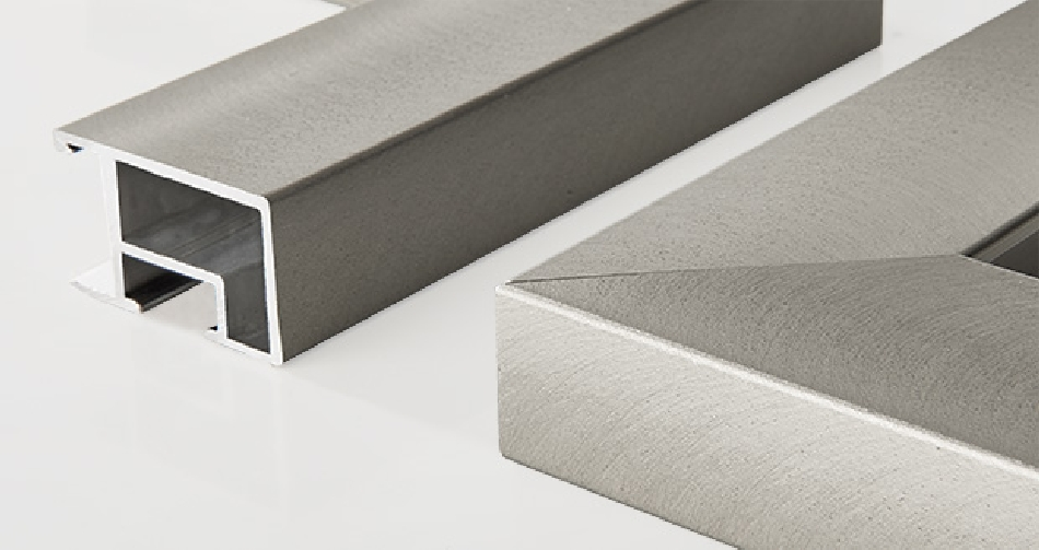 ALU: brushed nickel 30x17mm