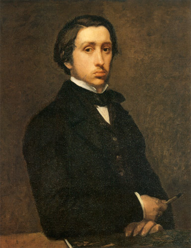 Self-portrait of Edgar Degas