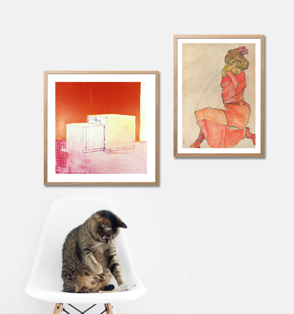 Art prints with warm colors