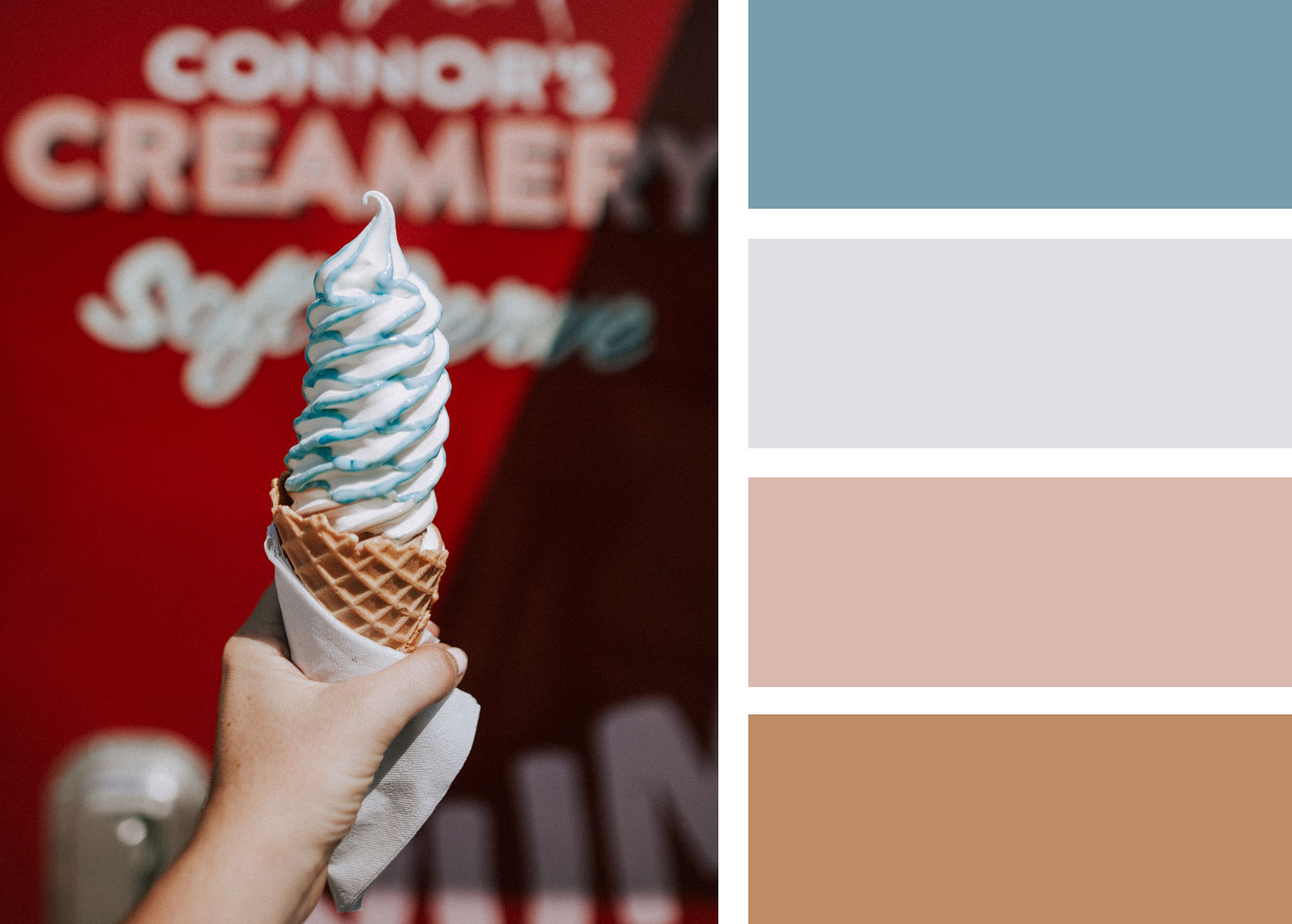 Ice cream colors for your decoration