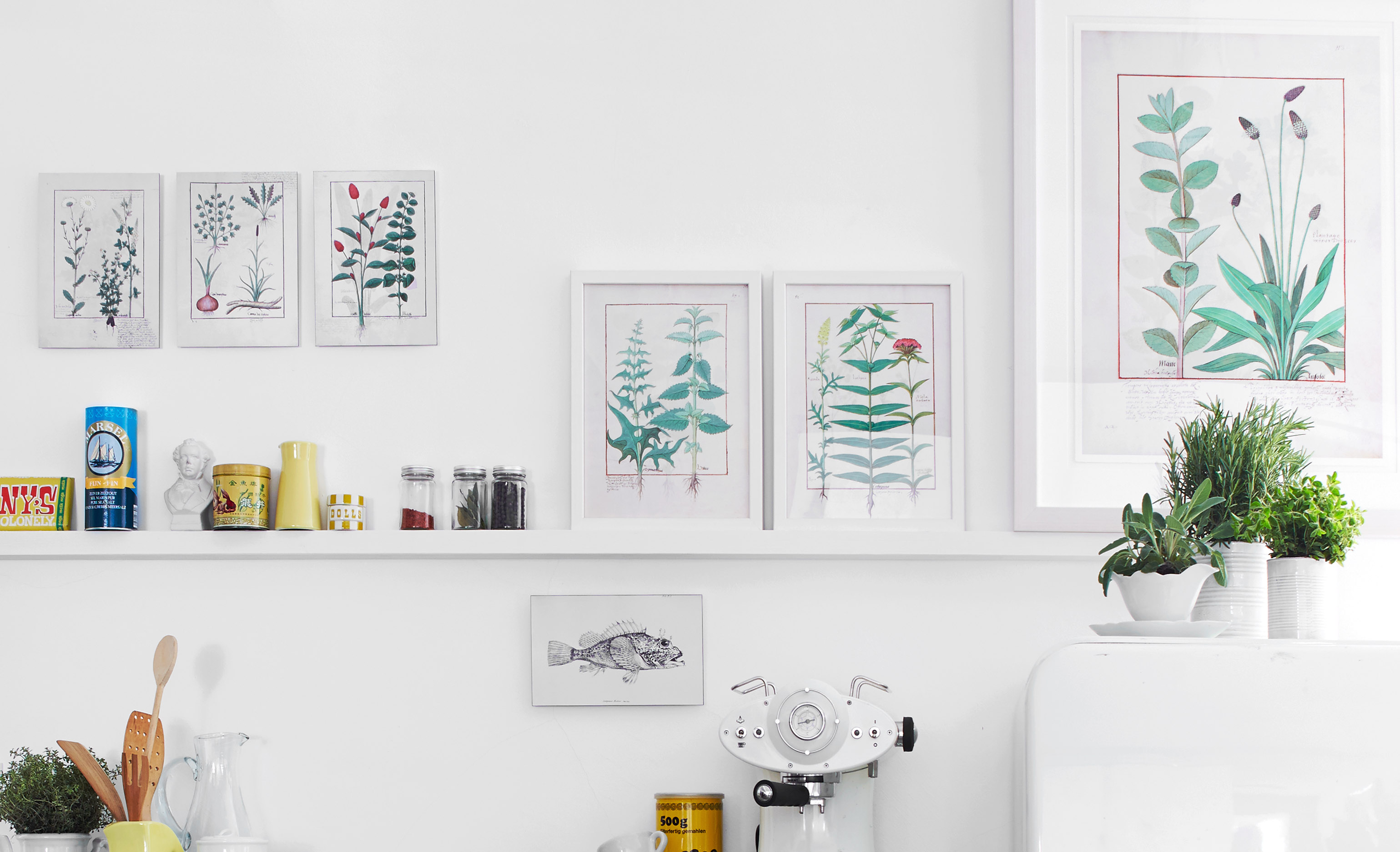 Hang pictures on the wall properly, hanging: Picture rail. The flexible variant for wall pictures and works of art.