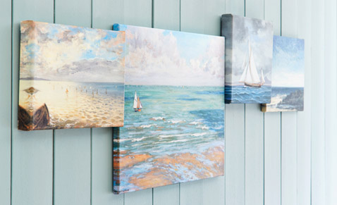 Hang pictures on the wall properly, hanging: Motif connects