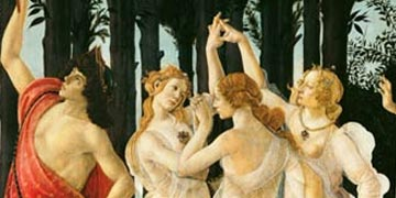 Primavera Detail of the Three Graces and Mercury by Sandro Botticelli
