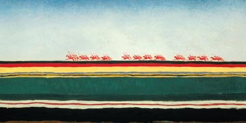 Red cavalry by Malevich