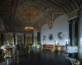 The Malachite Hall of the Winter Palace in Saint Petersburg