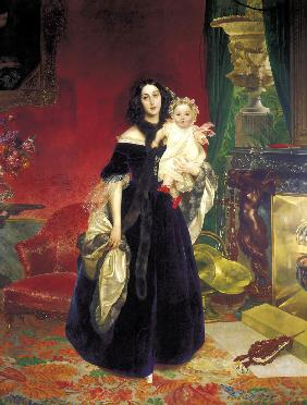Maria Arkadyevna (Stolypina) Beck (1819-1889) with her Daughter