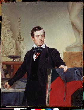 Portrait of the artist and architect Alexander Briullov (1798-1877)