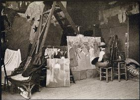 Toulouse-Lautrec in his studio in Rue Caulaincourt, from ''Toulouse-Lautrec'' by Gerstle Mack, publi
