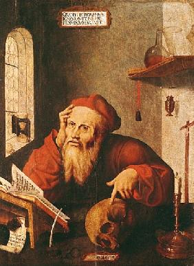 St. Jerome, after a painting Quentin Massys or Metsys (1466-1530)