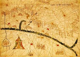 North Africa, from a nautical atlas, 1520(detail from 330916)