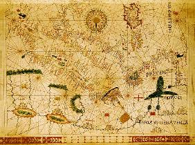 Provence and Italy, from a nautical atlas, 1520(detail from 330915)