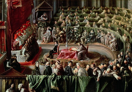 Trial of Galileo, 1633 (detail of 2344) - Italian School ...