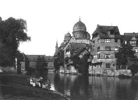 The synagogue at Nuremberg, c.1910 (b/w photo)