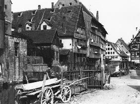 View of the Old Quarter, Ulm, c.1910 (b/w photo)