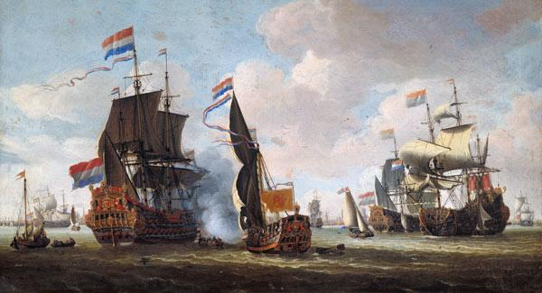 The Arrival of Michiel Adriaanszoon de Ruyter (1607-76) in Amsterdam