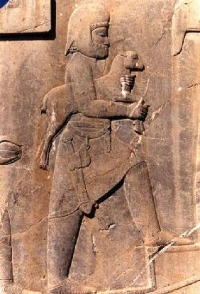 A Mede carrying a sacrificial lamb up the eastern stairway of the south portico of Darius' palace