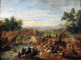 Cavalry Battle on a Bridge