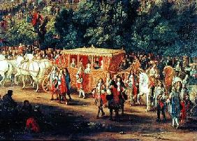 The Entry of Louis XIV (1638-1715) and Maria Theresa (1638-83) into Arras