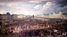 The Procession of Louis XIV (1638-1715) Across the Pont Neuf
