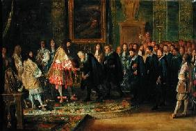 The Reception of the Ambassadors of the Thirteen Swiss Cantons by Louis XIV (1638-1715) at the Louvr