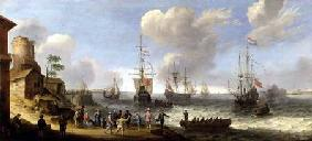 Willaerts, Adam : Dutch Warships in an Estua...