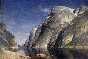 The Sognefjord, Norway, c.1885 (oil on canvas)