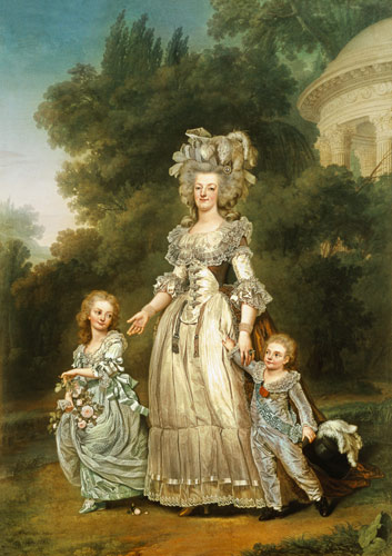 Queen Marie Antoinette (1755-93) with he - Adolf Ulrich ...