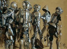 Armour, 1866 (gouache on paper mounted on card)
