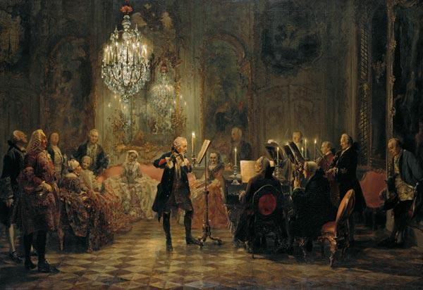 The flute concert Friedrich the Great at Sanssouci 1852