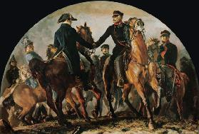 Blüchers meeting with Wellington after the battle V . bark Alliance (Waterloo)