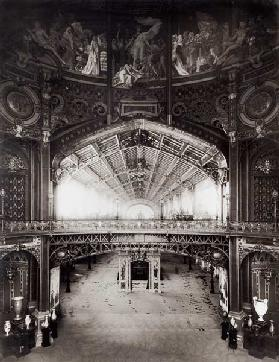 The Central Dome of the Universal Exhibition of 1889 in Paris (b/w photo)