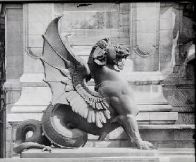 Chimaera from the St. Michel fountain, Paris