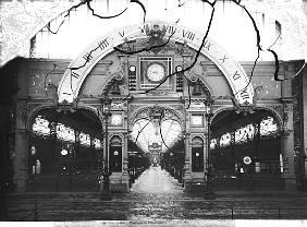 Portico of the Horology Pavilion at the Universal Exhibition, Paris