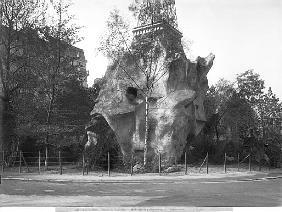 Prehistoric house at the Universal Exhibition of 1889 in Paris, architect Charles Garnier (1825-98)