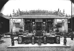 The Chinese Pavilion at the Universal Exhibition of 1889 in Paris (b/w photo)