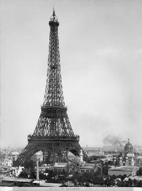 The Eiffel Tower (1887-89) photographed during the Universal Exhibition of 1889 in Paris, architect