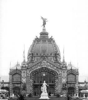 View of the Central Dome, Universal Exhibition, Paris, 1889 (b/w photo)