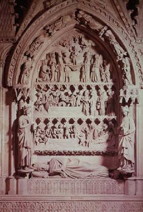 Tomb of Dagobert I (605-39), King of the Franks, restored