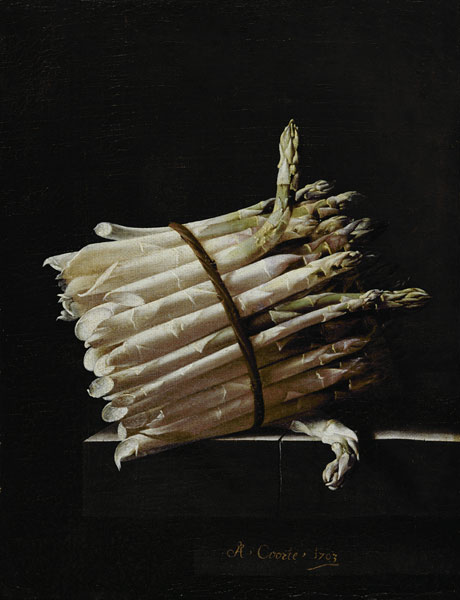 or Asparagus Bunch Oil Painting Paper Canvas Print Poster Wall Art