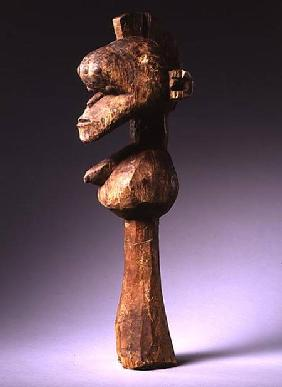Baga D'Mba-Da-Tshol Head from Guinea (wood & nails)