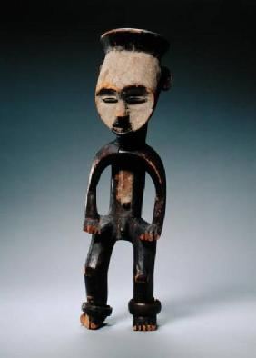 Male Figure, Mbole Culture, Congo (wood, white chalk & metal)