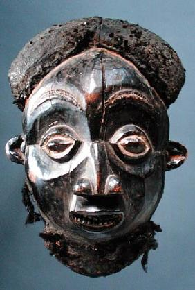 Mask from Cameroon Grasslands (wood & human hair)