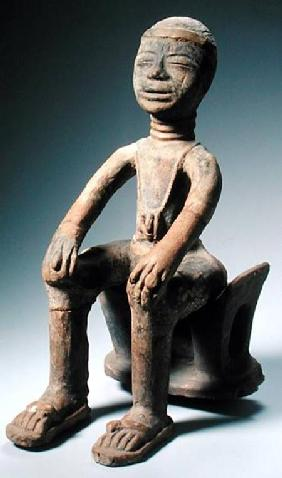 Memory Figure Sitting on a Stool, Akan Culture, Ghana