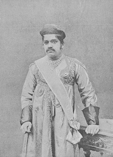 Maharaja Sayajirao Gaekwad III, c.1919 - (after) English photographer