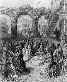 Holland House - A Garden Party, from ''London, a Pilgrimage'', written by William Blanchard Jerrolds