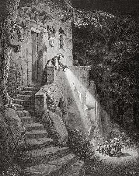 The Dwelling of the Ogre; engraved by Heliodore Joseph Pisan (1822-90) c.1868