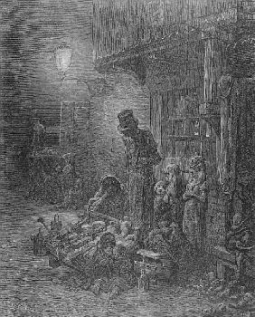 Wentworth Street, Whitechapel, from ''London: A Pilgrimage'' by William Blanchard Jerrold (1826-84);