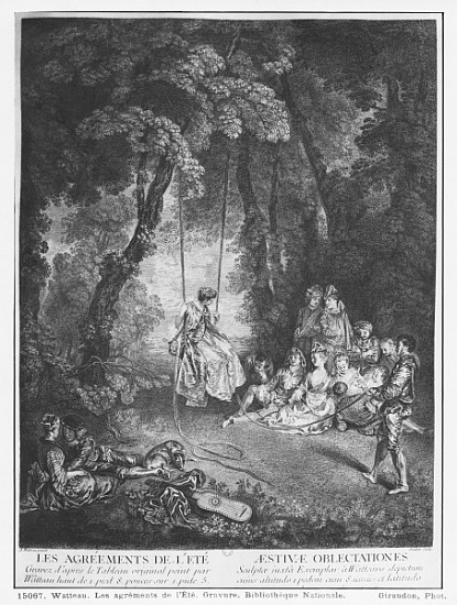 (after) Jean Antoine Watteau - The pleasures of summer; engraved by Francois Joullain (1697-1778)